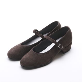 Low Heel Syllabus Suede chocolate