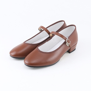 Low Heel Shoes Brown