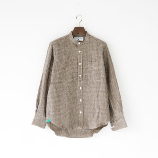 HEAVY LINEN LONG SLEEVE  SHIRTS  CHECK