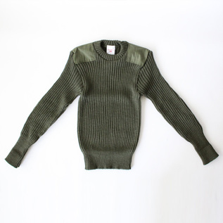 WOOLLY PULLY CREW NECK SWEATER OLIVE