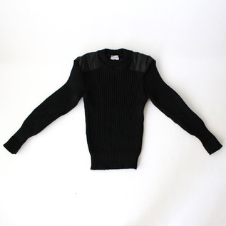 WOOLLY PULLY CREW NECK SWEATER BLACK