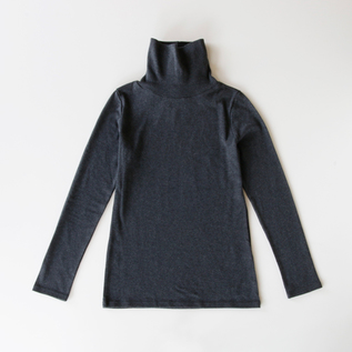 Highneck Long Sleeve T-shirt charcoal gray