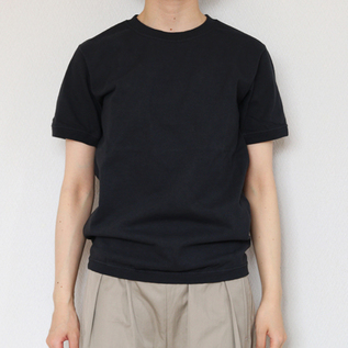 CREW NECK SHORT SLEEVE T-SHIRT OFF BLACK
