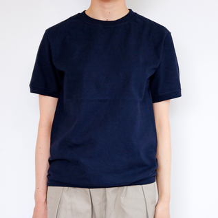 CREW NECK SHORT SLEEVE T-SHIRT MARINE