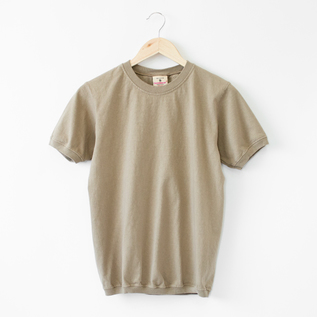 CREW NECK SHORT SLEEVED TOP  ASH BEIGE