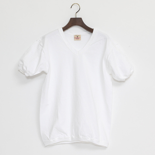 V NECK SHORT SLEEVED TOP WHITE