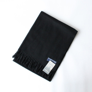 MERINO WOOL SCARF BLACK