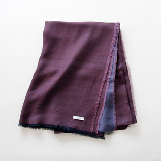 Double face cotton stole PURPLE