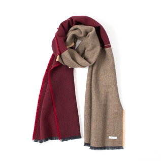 CASHMERE PANEL SCARF RED