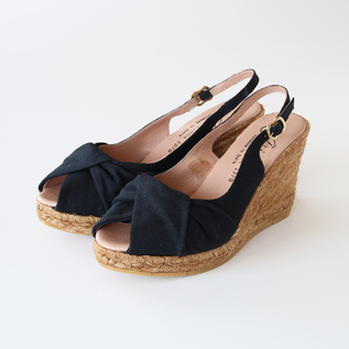 Turban design espadrille sandals BLK