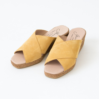 CROSS BELT ESPADRILLE MULE MUSTARD