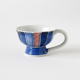 Sake cup with handle Senbun