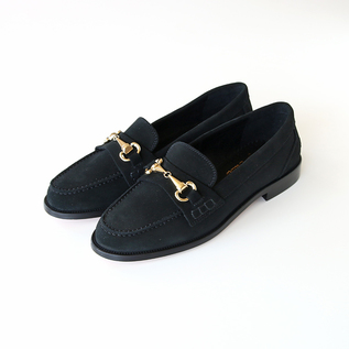 Bit loafers suede black