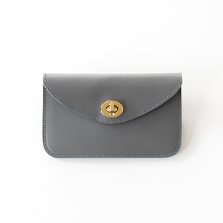 Leather Wallet HILDA smoke