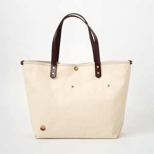 CANVAS TOTE BAG-M PINE No.9 SCCP002 BROWN.MILK