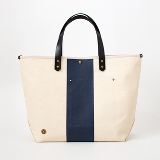 CANVAS TOTE BAG-L PINE No.9 SCCP003 BLACK.MILK.NAVY