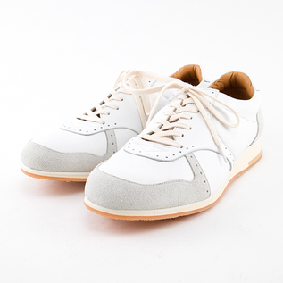 MEN MUKAVA LEATHER SNEAKERS WHITE