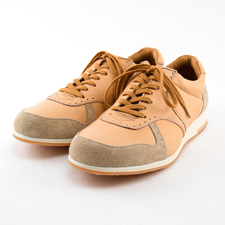 MEN MUKAVA LEATHER SNEAKERS BEIGE