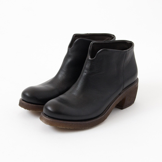 SHORT BOOTS TEXAS19 LEATHER BLACK
