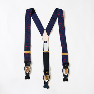 Suspenders dot Navy-Red