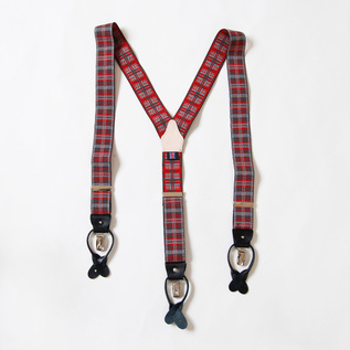 Suspenders check Red
