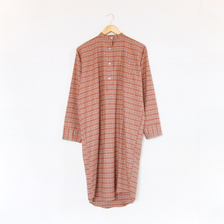 パジャマ LadiesButtoned CheckBrown