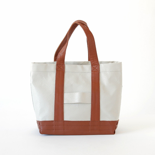 Bespoke Leather mini Tote AVORIO-CUOIO