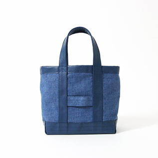 Linen mini tote bag