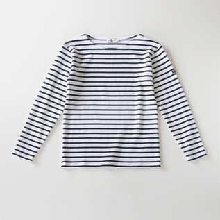 ボーダーカットソー STRAIGHT FIT white/navy