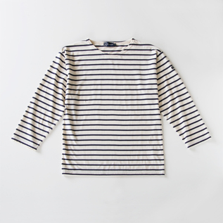 STRIPE LONG SLEEVE T-SHIRT BEG MIEL off-navy