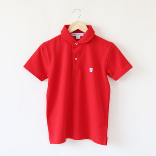 Polo shirts Round Collar Rouge