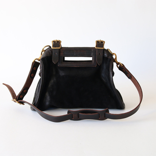 SUEDE-LEATHER CITY MAIL BAG SMALL