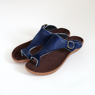 Harako Leather sandals navy