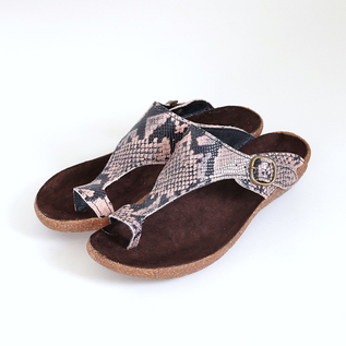 Leather Sandals PYTHON