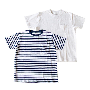Crew neck Short-sleeved T-shirt with pocket