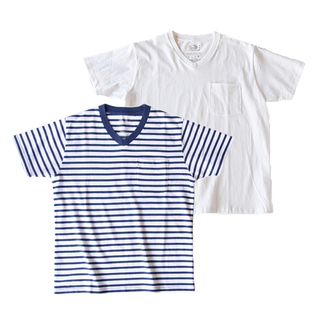 V-NECK SHORT SLEEVE T-SHIRT WITH POCKET