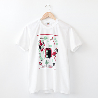 FRUIT PARLOR T SHIRTS riya-WHITE