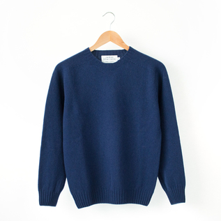 CREW NECK SWEATER  AMERICAN NAVY