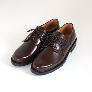 Leather shoes DANON Marron patent