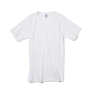 Plain V-neck Short Sleeve T-shirt White