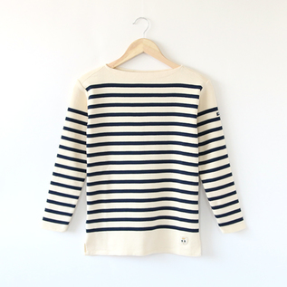 STRIPE LONG SLEEVE T-SHIRT BREST ECRU MARINE