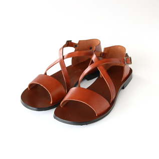 Leather sandals W0162 CUOIO