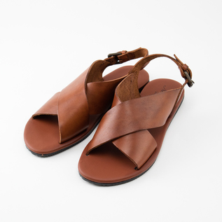LEATHER SANDAL W1628 CUOIO