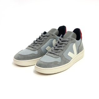 V-10 MESH SNEAKERS SILVER