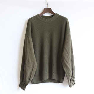 BELGIU LINEN SLEEVE  SWEATER