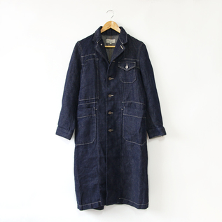 Linen denim work coat