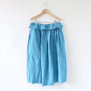 Air chambray gathered skirt