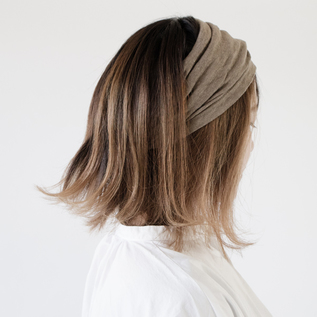 LINEN GATHER HAIR BAND