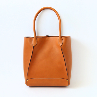 Leather tote bag THELMA