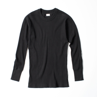 PLEAT SMOOTH ARMY CREW LONG SLEEVE